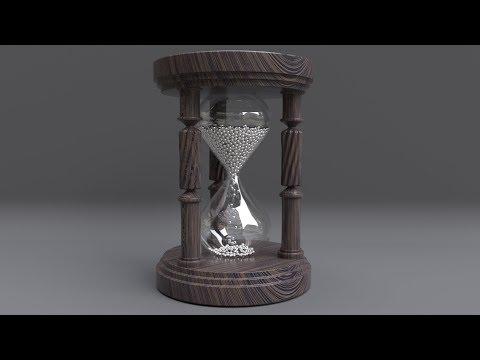 Create a realistic hourglass