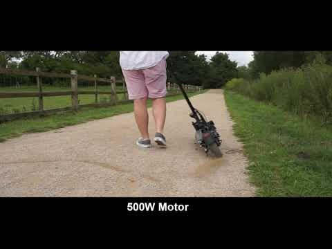 iScooter® iX4 500W Motor Off Road Electric Scooter Fast Speed 28mph (45km/h),12.8Ah Li-Ion Battery, 24.8miles (40km) Long Range, 10'' Off-road Tires Foldable Pro Commuter E-Scooter for Adults