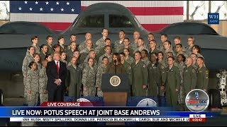 President Donald Trump FULL Speech to Military and Families at Joint Base Andrews 9/15/17