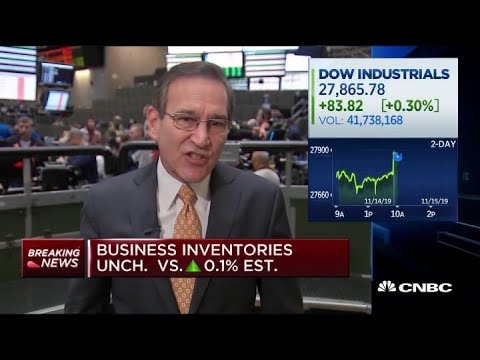 Business inventories come in unchanged for September