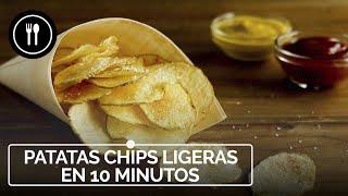 DELICIOSAS patatas CHIPS ligeras en 10 minutos