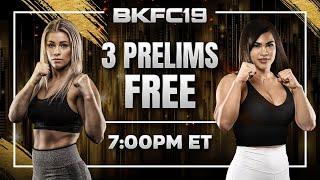 LIVE FREE PRELIMS - PAIGE VANZANT VS RACHAEL OSTOVICH | BARE KNUCKLE FC