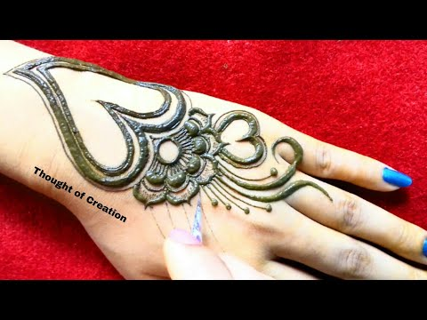 Download New Stylish Heart Jewellery Mehndi Design For Hands