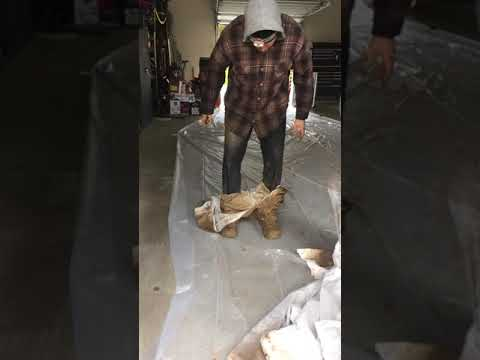 Our crew members work hard daily in not the most sought-after conditions, here is just a look at what they come out of a crawlspace that has yet to be waterproofed.