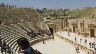 preview picture of video 'Gerasa (Jerash), Jordan - The Southern Theater ג'רש, ירדן - נכנסים אל התיאטרון הדרומי'