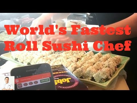 World's Fastest Roll Sushi Chef | How To Make Sushi Fast