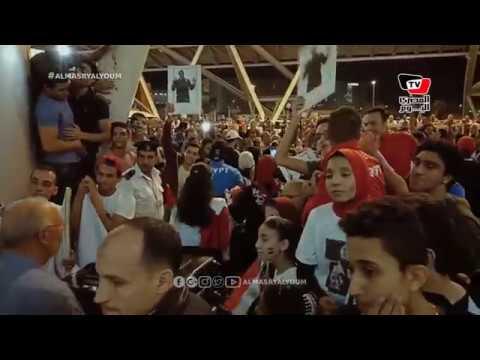 لحظة وصول بعثة مصر الأوليمبية من الأرجنيتن عقب تحقيقها إنجاز تاريخي