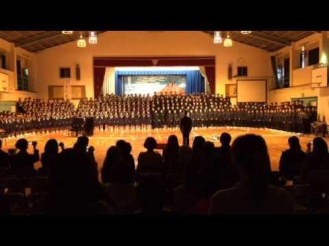 沖田中学校「明日への翼」363の花を咲かせた大合唱