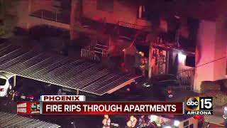 Apartment fire in Phoenix sends 3 to hospital