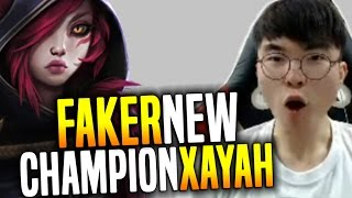 Faker Plays The New Champion Xayah For First Time And That