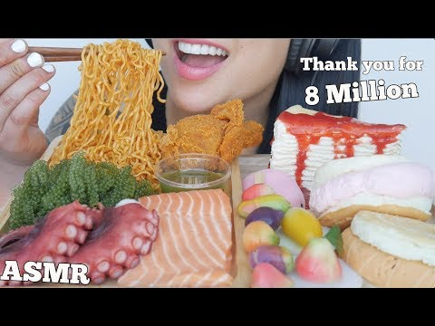 ASMR MOST POPULAR FOOD ON MY CHANNEL  *THANK YOU FOR 8 MILLION (EATING SOUNDS) NO TALKING | SAS-ASMR