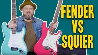 Gear Thursday: Fender Vs Squier Strat Comparison | Marty Schwartz