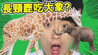 MOPE.IO : Have you ever seen a giraffe 🦒 eat an elephant 🐘...WHAT !  ?