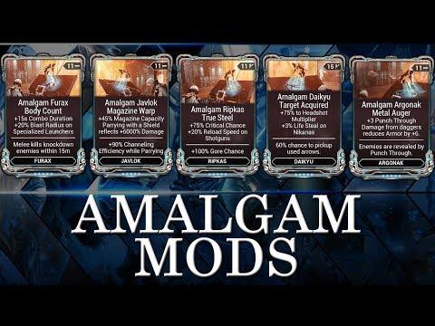 Warframe - Update 25 - New Amalgam Mods