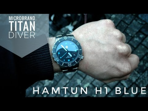 Hamtun H1 Blue Review - saucooler Microbrand Diver aus Titan | Saphir | NH35A