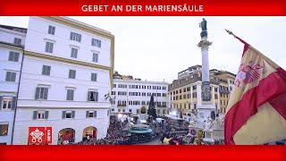 Papst Franziskus - Rom - Spanischer Platz - Gebet an der Mariensäule 2018-12-08