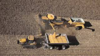 FDWB - I explain to my son the video I shot of a towed grain cart