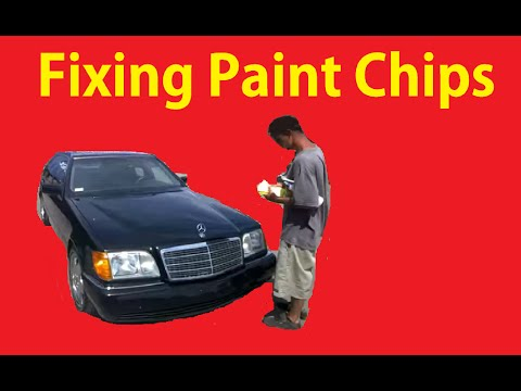 Fix Paint Chips on Cars Cheap Easy DIY Tutorial Video Chip Repair Tips
