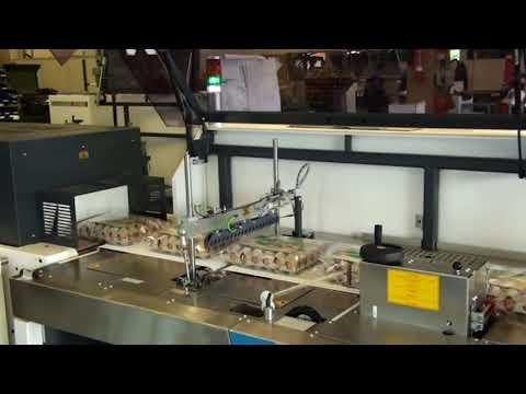 How to produce egg tray shrink packs