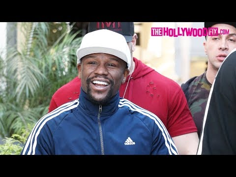 Floyd Mayweather Shows Off His New Diamond Watch & Rolls-Royce While Shopping In Beverly Hills