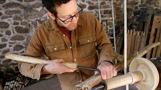 How To Turn A Wooden Bowl On A Pole Lathe - Sharif Adams