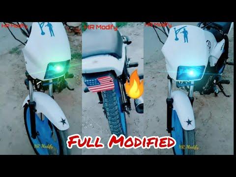 Splendor bike modified white  2019 HrModify