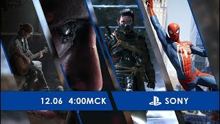 [03:30] Прямая трансляция конференции Sony на E3 2018 на русском языке