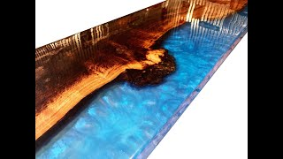 Wood and Epoxy Resin River Countertop - Epoxy Resin River Style Countertops For My Customers Yacht!