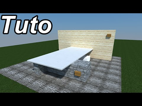 minecraft tuto maison moderne sur l 39 eau. Black Bedroom Furniture Sets. Home Design Ideas