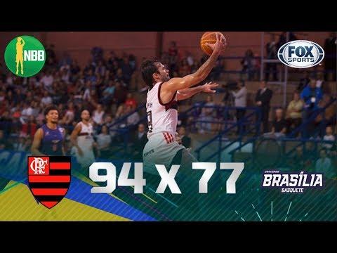 SEM DIFICULDADES! Veja os melhores momentos de Flamengo 94 x 77 Brasília pelo NBB