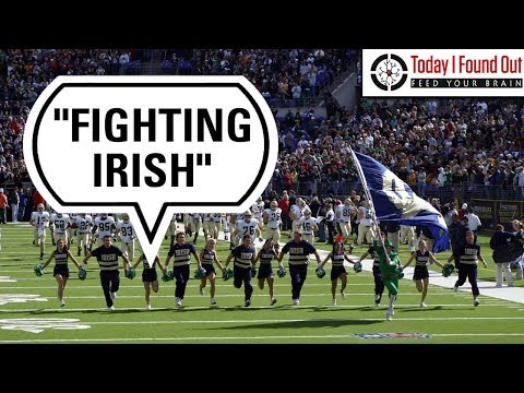 Why the French-Founded Notre Dame School's Athletic Teams are the Fighting Irish