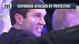 Anti-Lockdown Protesters Hang Effigy of Governor Andy Beshear thumbnail