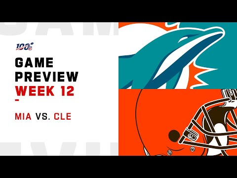 Miami Dolphins vs Cleveland Browns Week 12 NFL Game Preview