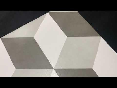 Gres szkliwiony PANEL GEO white-black 29,8x29,8 gat. I