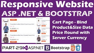 Responsive Website-ASP.NET&Bootstrap-Part 29-Online Shopping Site-Cart-Dynamic Data-Sever Currency