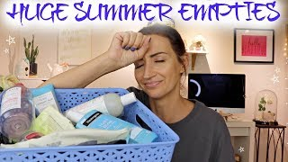 ENORMOUS SUMMER EMPTIES | SKINCARE, MAKEUP & BODY CARE