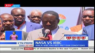 Raila Odinga dismisses reports by Wafula Chebukati that IEBC has met some of their demands