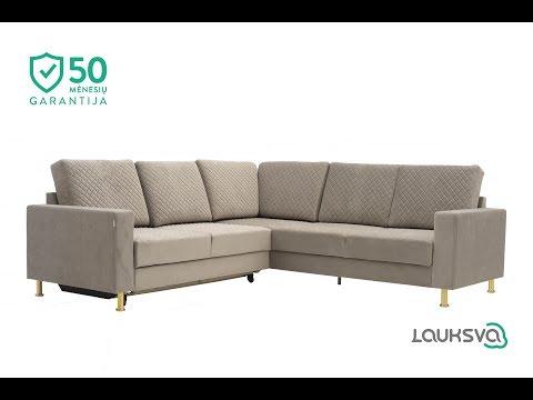 Stūra dīvāns LAUKSVA OTTO, gaišu brūns