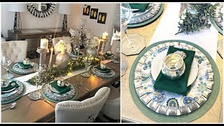 DINING ROOM DECORATING IDEAS | SUMMER TABLESCAPE