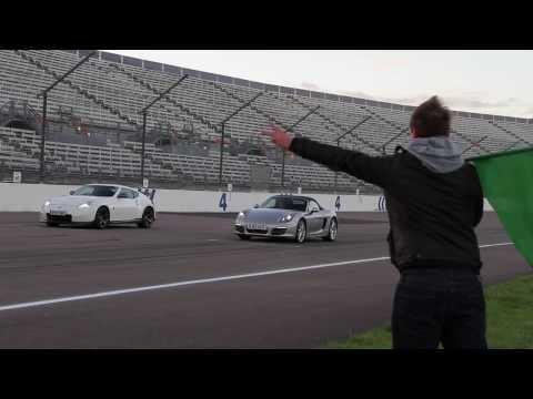 Drag Race: Porsche Boxster vs Nissan 370Z Nismo