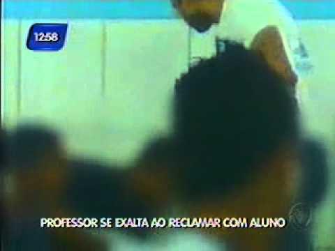 Professor é flagrado agredindo aluno em Una