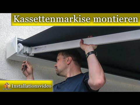 Kassettenmarkise an der Wand montieren / PARAMONDO Kassettenmarkise Line Montageanleitung.