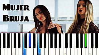 Lola Índigo, Mala Rodríguez   Mujer Bruja | Piano Tutorial Cover