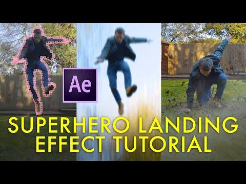 super hero landing after effects tutorial by steve ramsden