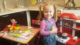 Детская кухня.Готовим вместе с Ульяшей для Свинки Пеппы.
