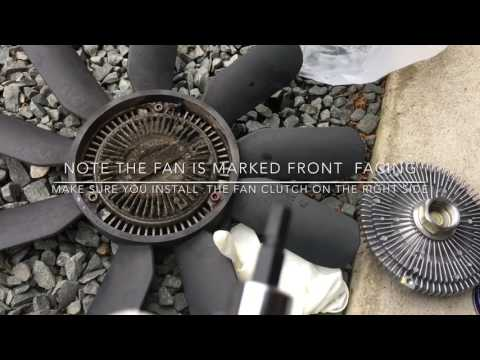 Fan Clutch Removal and Replacement on Mercedes ML320 ML430