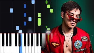 Joji Ft. Clams Casino   CAN'T GET OVER YOU Piano Tutorial
