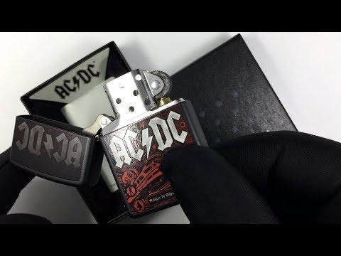 218 ACDC Зажигалка Zippo Rock and Roll, Black Matte