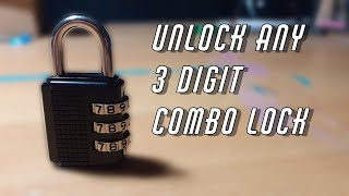 How To Unlock ANY 3-DIGIT COMBO LOCK in 1 minute! (August 2020 Method)