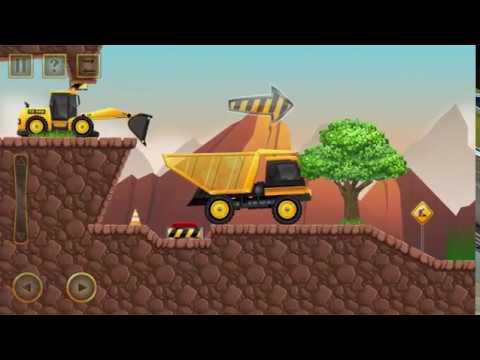 Construction city 2 game driving special equipment cement truck, truck, dump truck